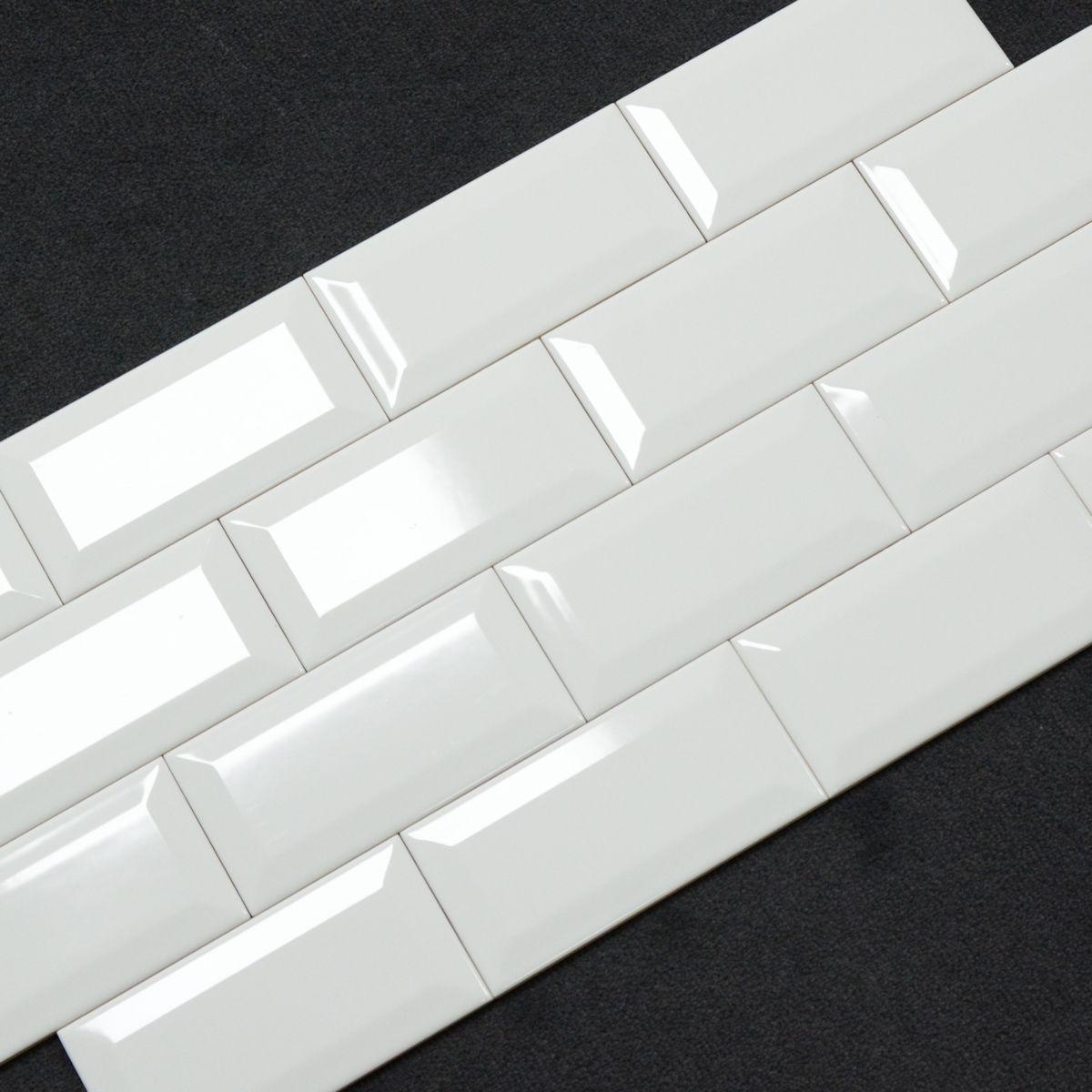 Maueroptik facette wand king metro white wei gl nzend 7 5 - Wandfliesen maueroptik ...